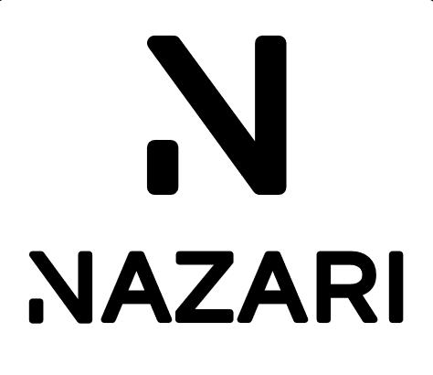 DJ Nazaris logotyp med svart text på vit bakgrund